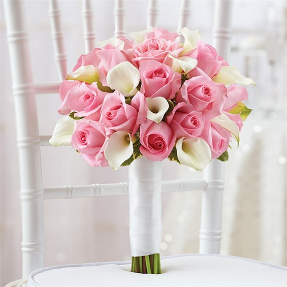 1 800 flowers pink bridal bouquet jasper florist and gifts llc. Black Bedroom Furniture Sets. Home Design Ideas